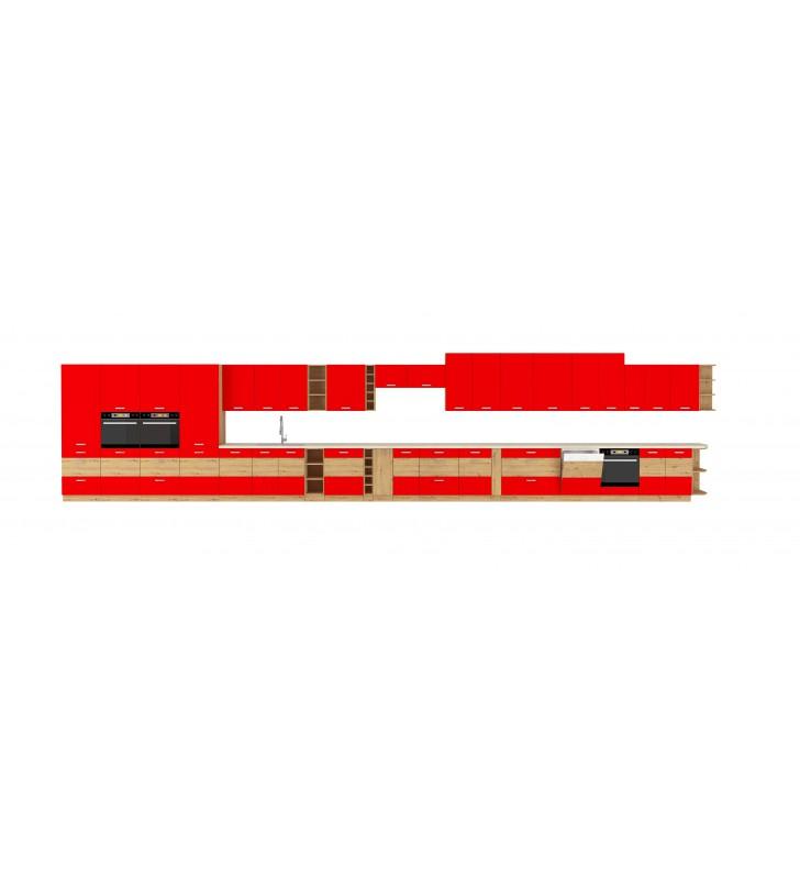 Szafka stojąca ARTISAN czerwony połysk 80 D 3S BB