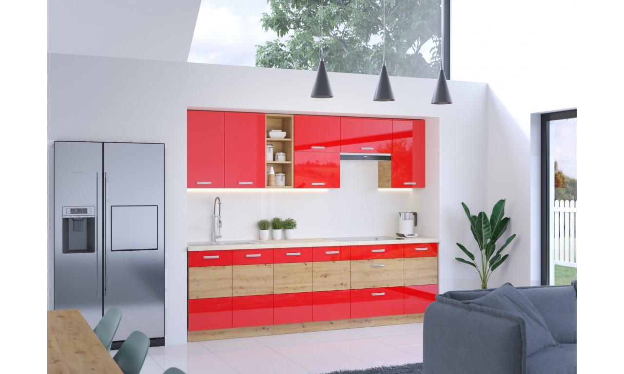 Szafka stojąca ARTISAN czerwony połysk 60 D 1F BB