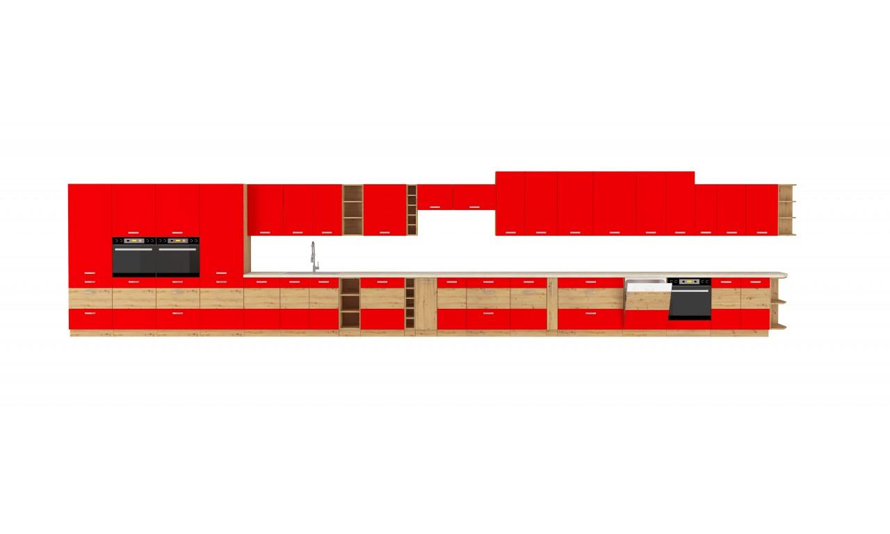 Szafka stojąca narożna ARTISAN czerwony połysk 105 ND 1F BB
