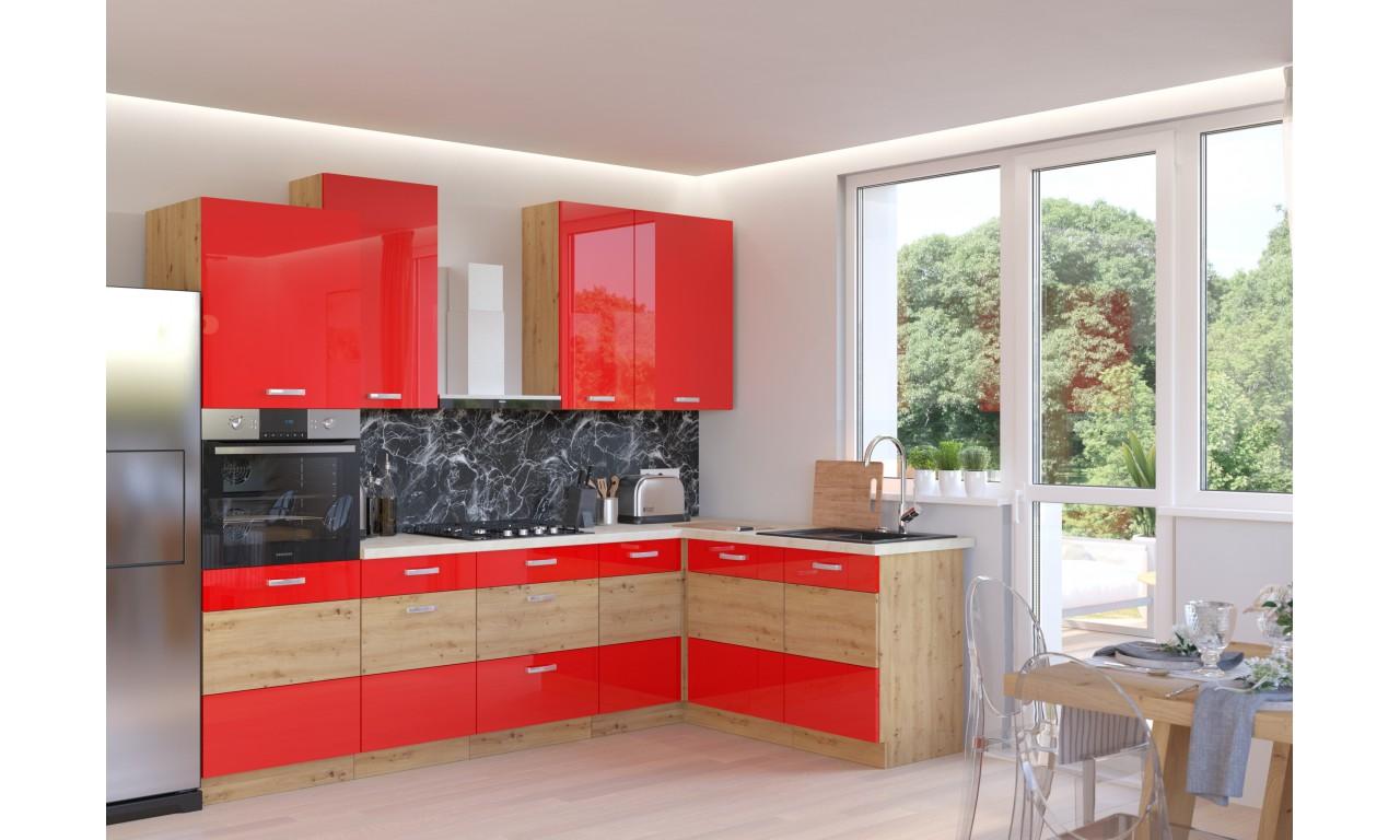 Szafka stojąca ARTISAN czerwony połysk 60 DK-210 2F