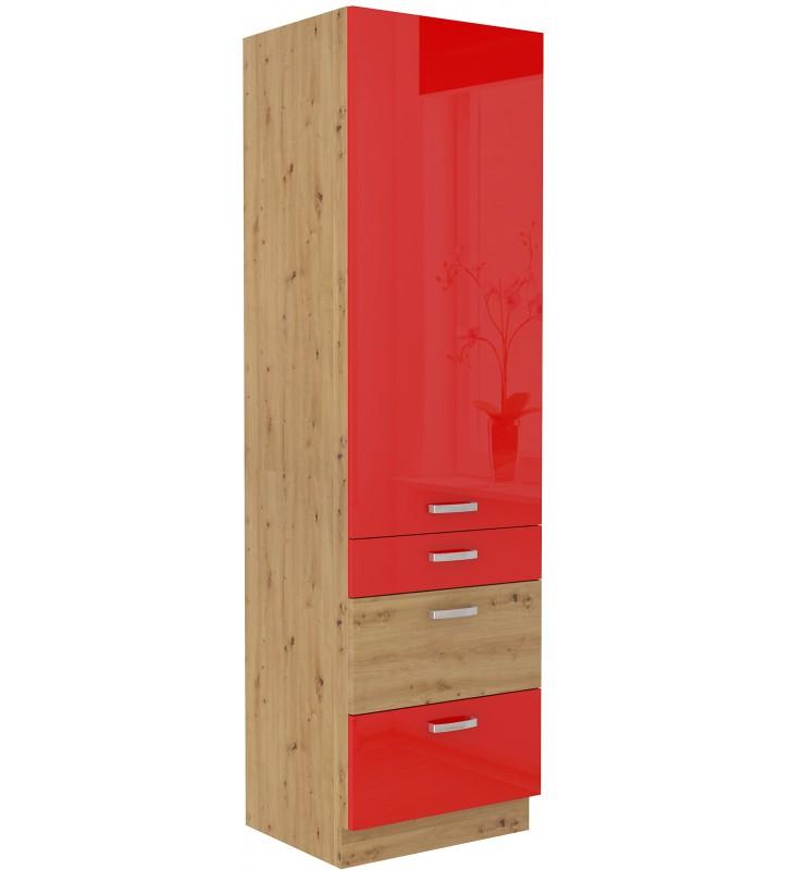 Szafka stojąca ARTISAN czerwony połysk 60 DKS-210 3S 1F