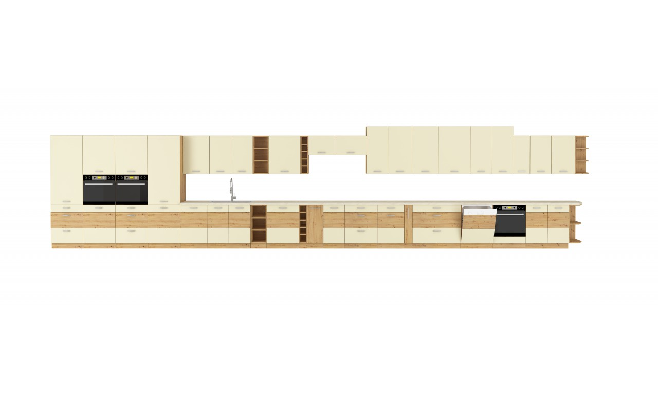 Szafka stojąca ARTISAN krem połysk 60 DK-210 2F