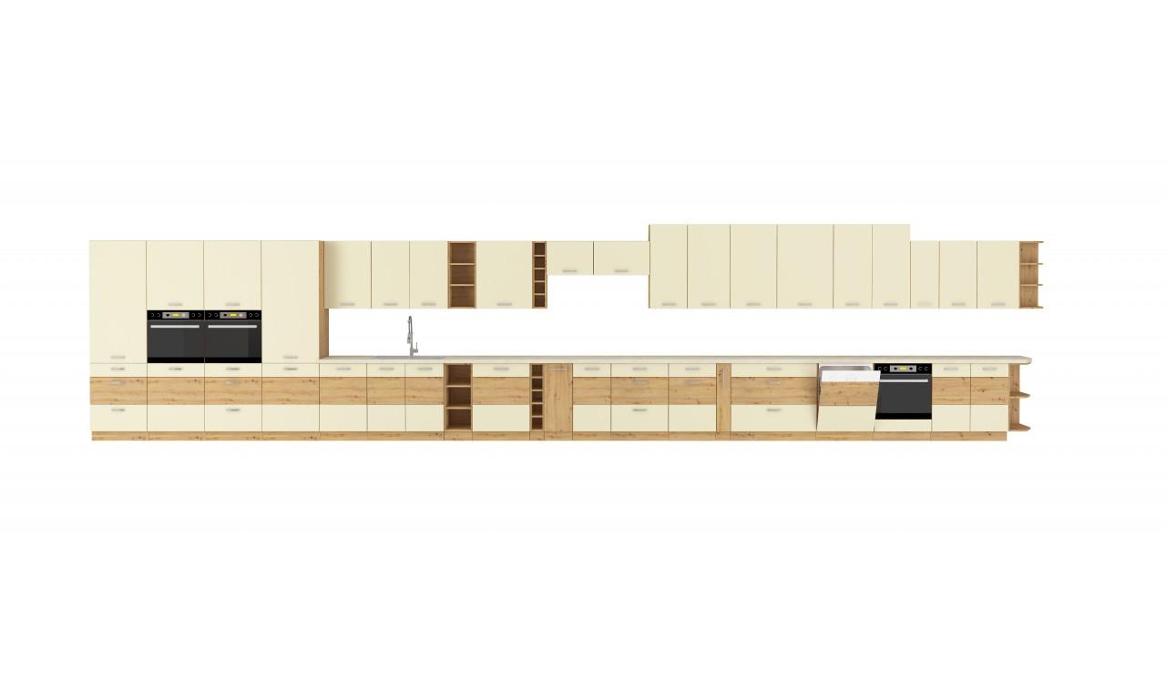 Szafka stojąca ARTISAN krem połysk 60 DKS-210 3S 1F