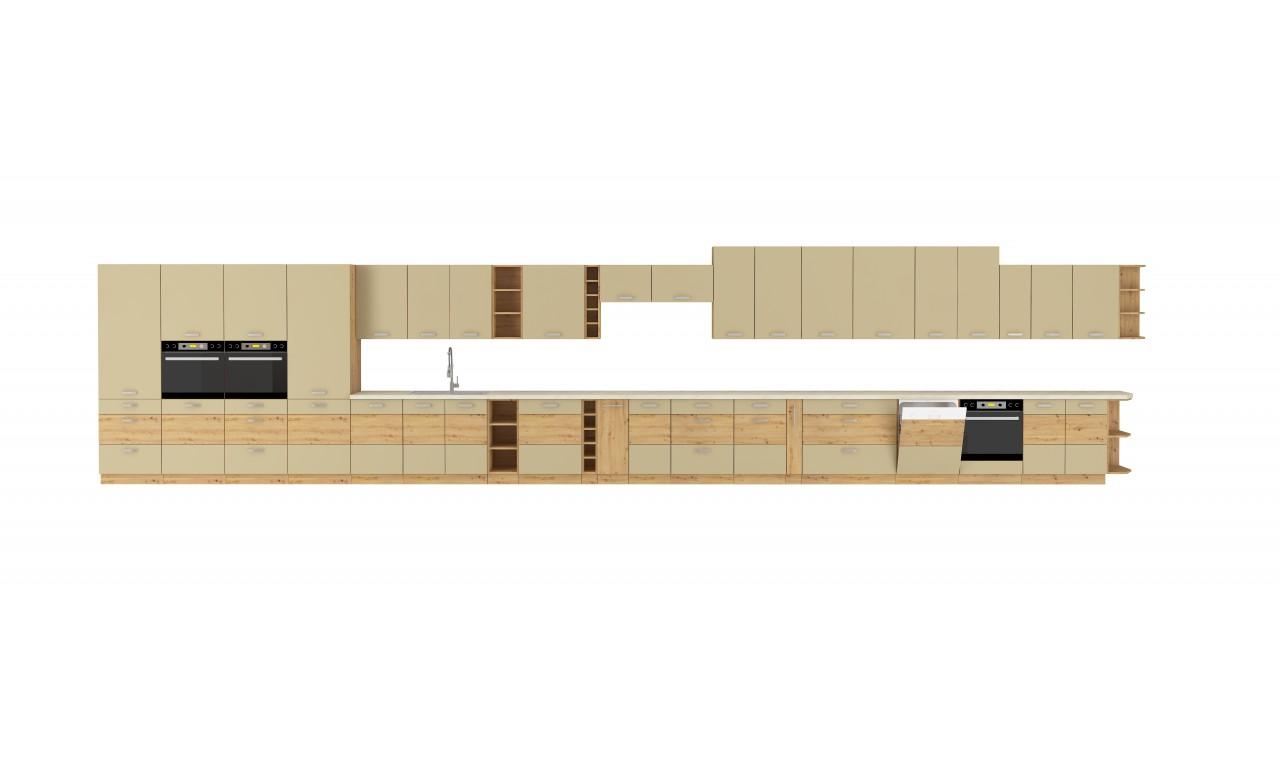 Szafka stojąca narożna ARTISAN cappucino połysk 89x89 DN 1F BB