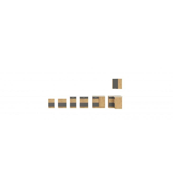 Szafka stojąca narożna ARTISAN szary połysk 89x89 DN 1F BB