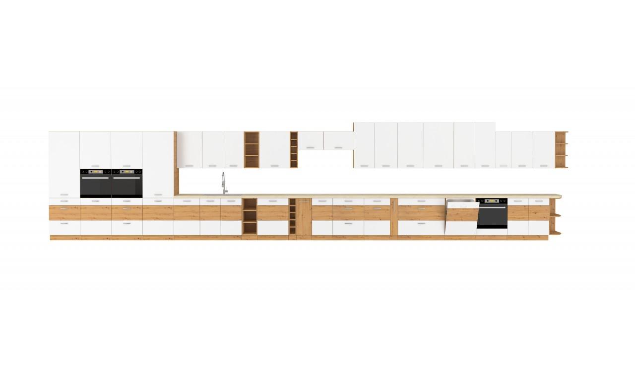 Zestaw mebli kuchennych ARTISAN B biały połysk