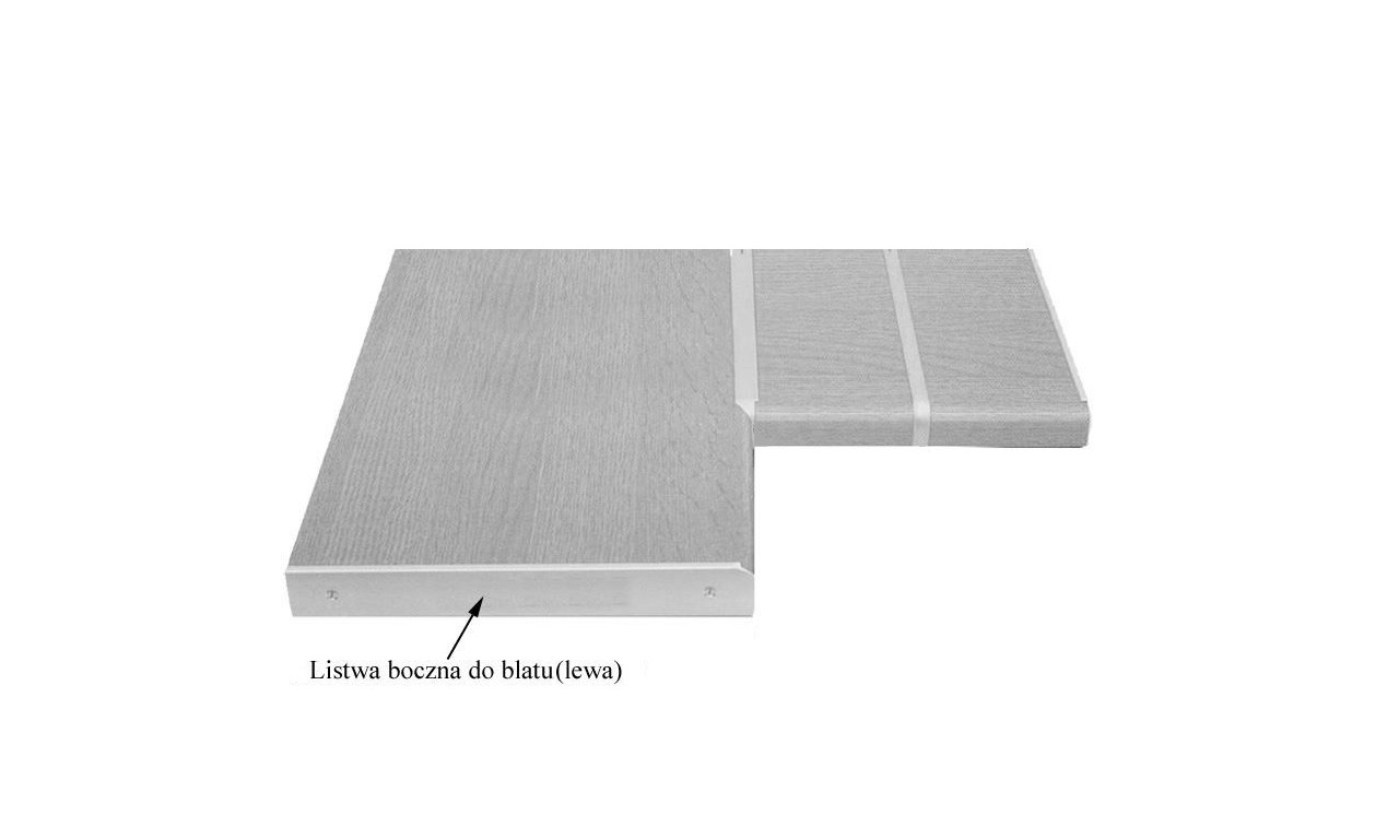 Listwa boczna zakończeniowa (lewa) do blatów 38/600