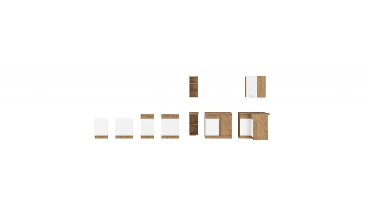 Szafka stojąca narożna VIGO biały połysk 89x89 DN 1F BB