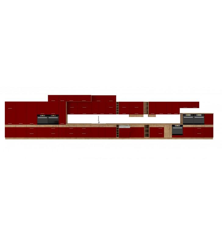 Szafka stojąca VIGO bordo połysk 60 DKS-210 3S 1F
