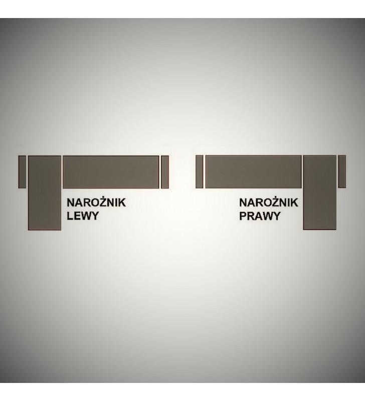 Brązowy narożnik z pufą, funkcją spania i dwoma pojemnikami na pościel Assan (inari27+inari23)