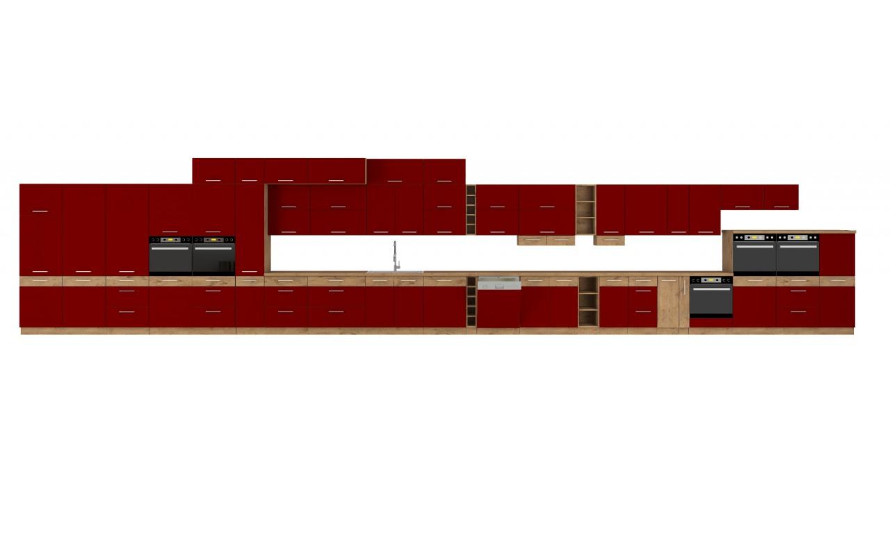 Szafka wisząca narożna VIGO bordo połysk 58x58 GN 1F
