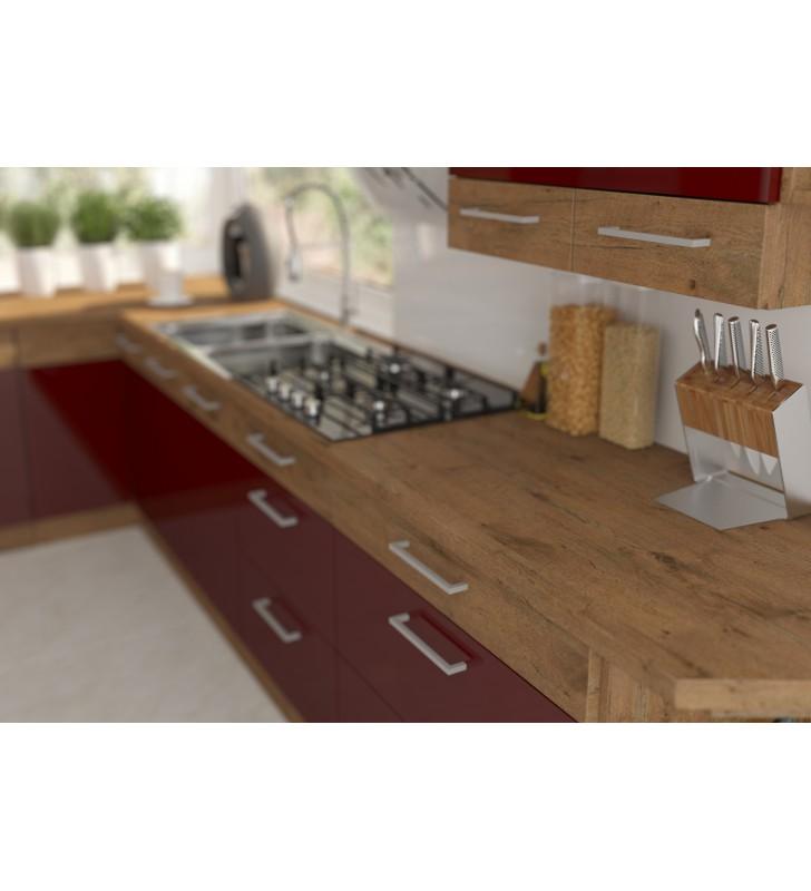 Zestaw mebli kuchennych VIGO F bordo połysk