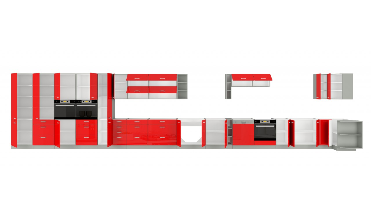 Szafka stojąca narożna ROSE 89x89 DN 1F BB