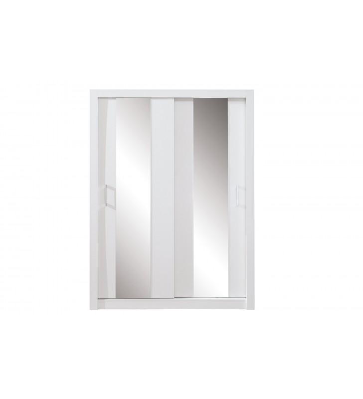 Szafa przesuwna z lustrami Duca III 160 biała