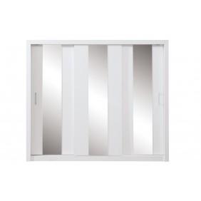 Bardzo duża (250 cm) szafa przesuwna z lustrami Duca I 250 biała