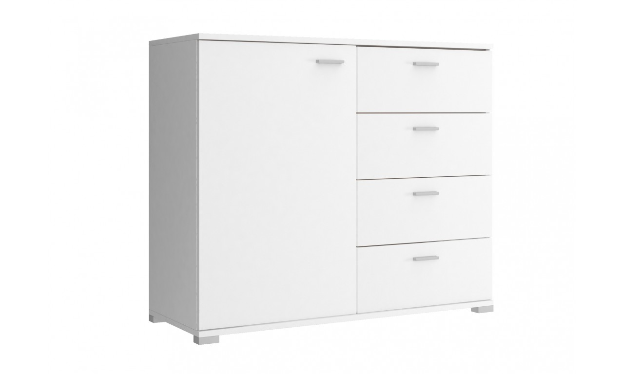 Biała, szeroka komoda (100 cm) PK100