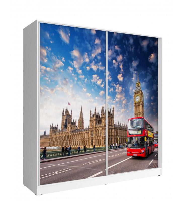 Szeroka szafa przesuwna z FOTO LONDON