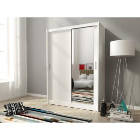 Biała szafa z jednym lustrem MAJA 130