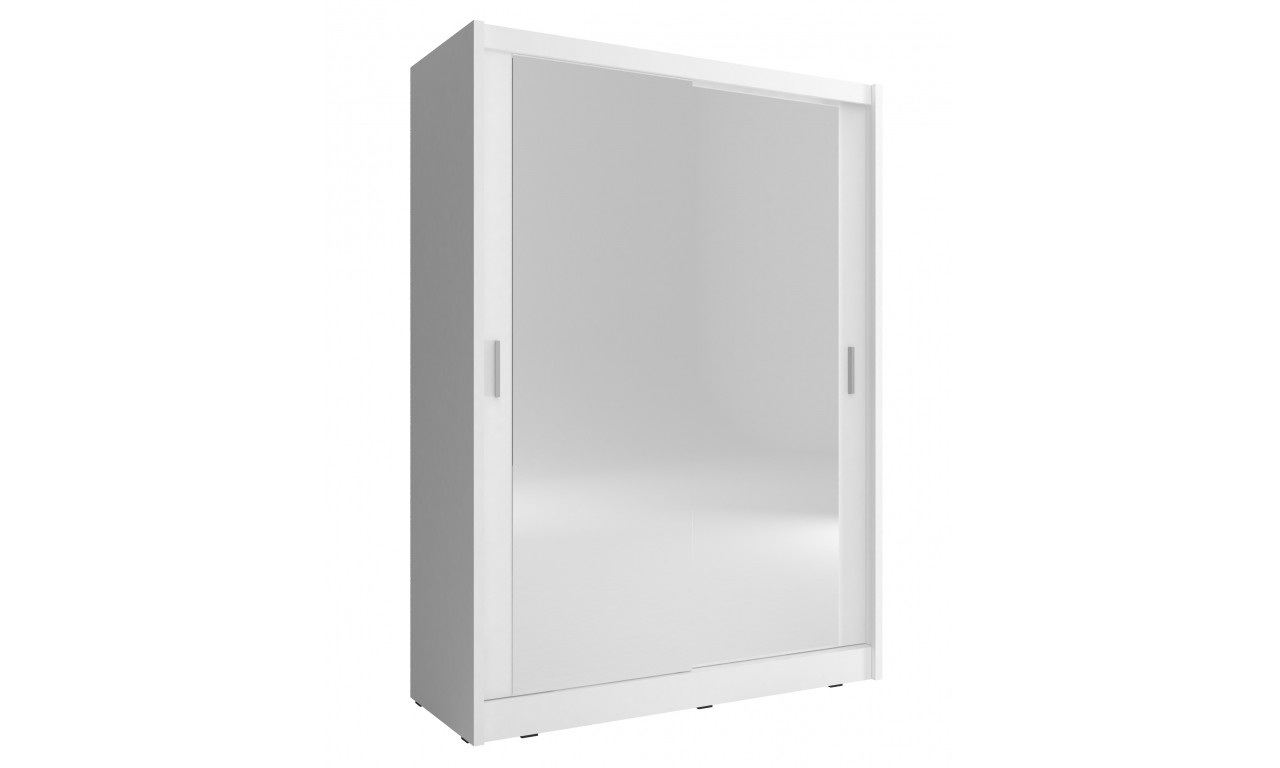 Biała szafa z dwoma lustrami MAJA 130