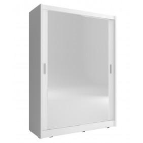 Biała szafa z dwoma lustrami MAJA 150