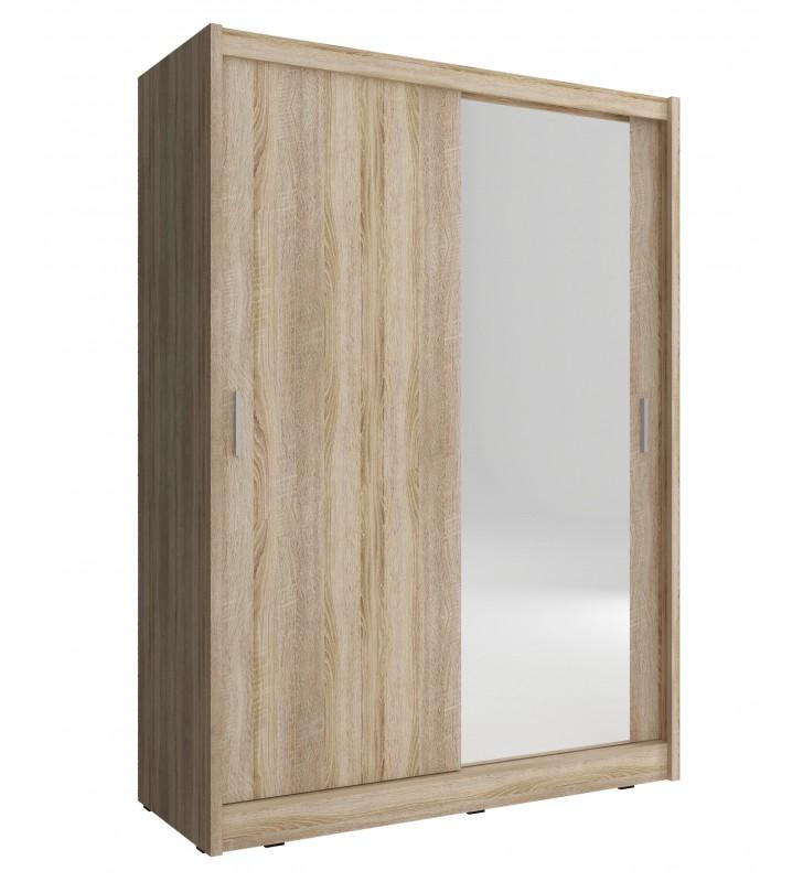 Jasnobrązowa szafa z jednym lustrem MAJA 150