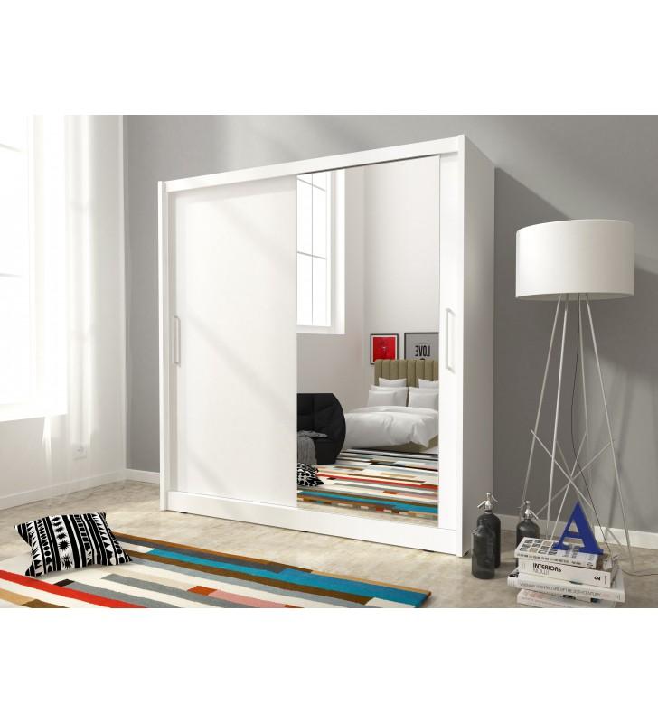 Biała szafa z lustrem MAJA I 200