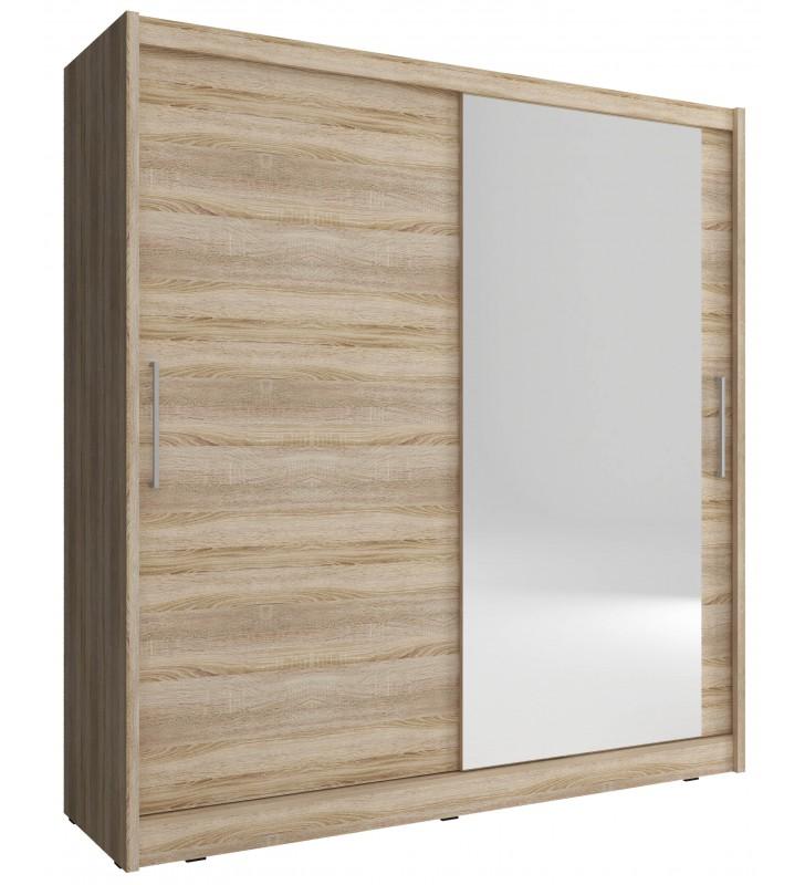 Jasnobrązowa szafa z lustrem MAJA I 200