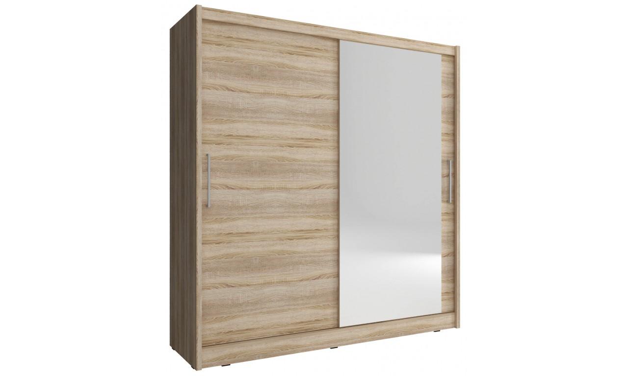 Jasnobrązowa szafa z lustrem MAJA I 180