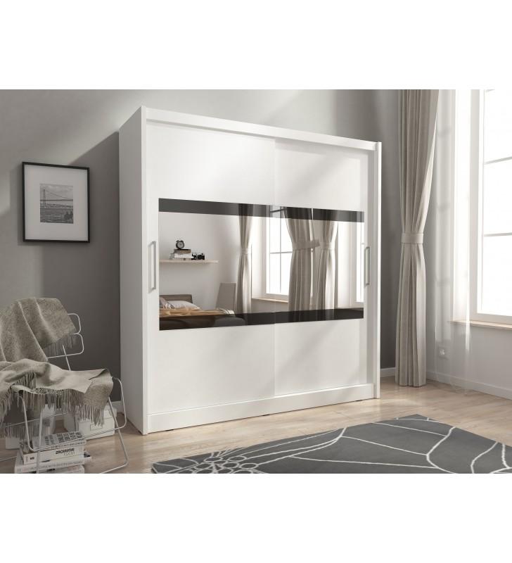 Biała szafa z lustrem MAJA IV 180
