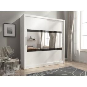 Biała szafa z lustrem MAJA IV 200