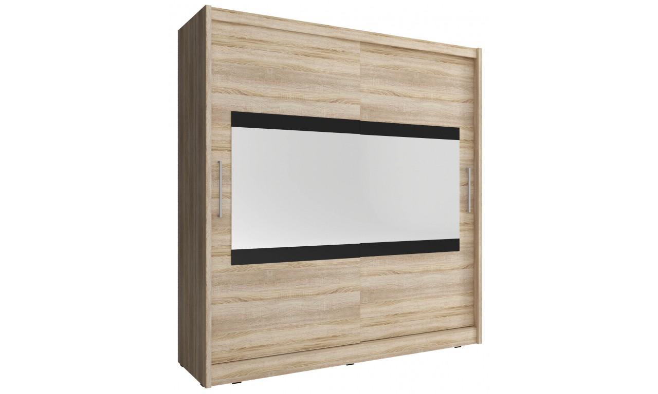 Jasnobrązowa szafa z lustrem MAJA IV 200