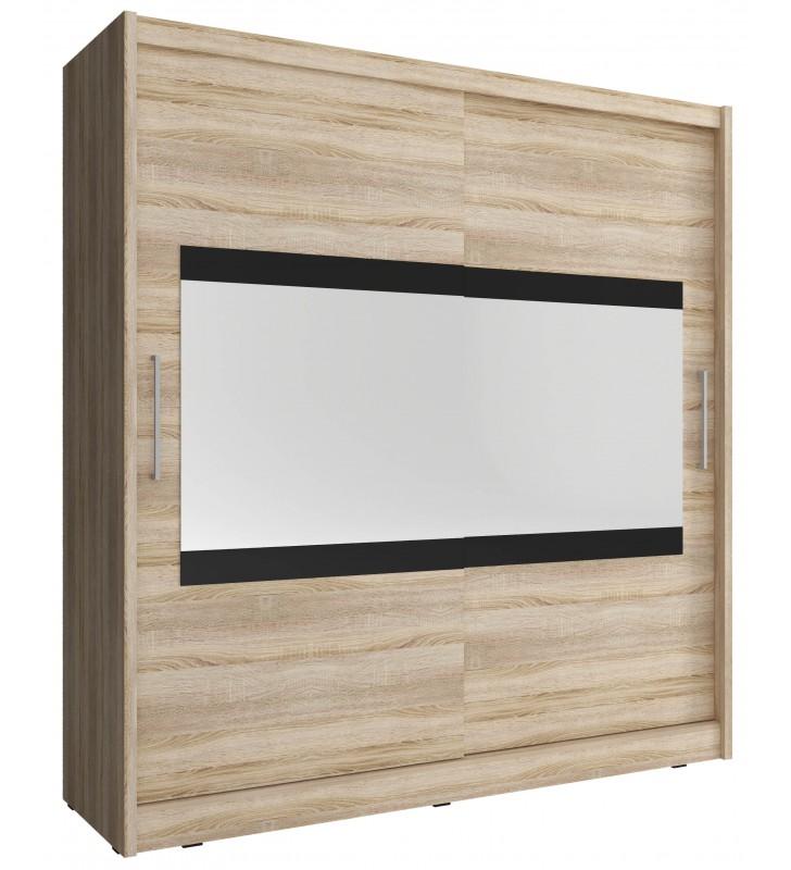 Jasnobrązowa szafa z lustrem MAJA IV 180