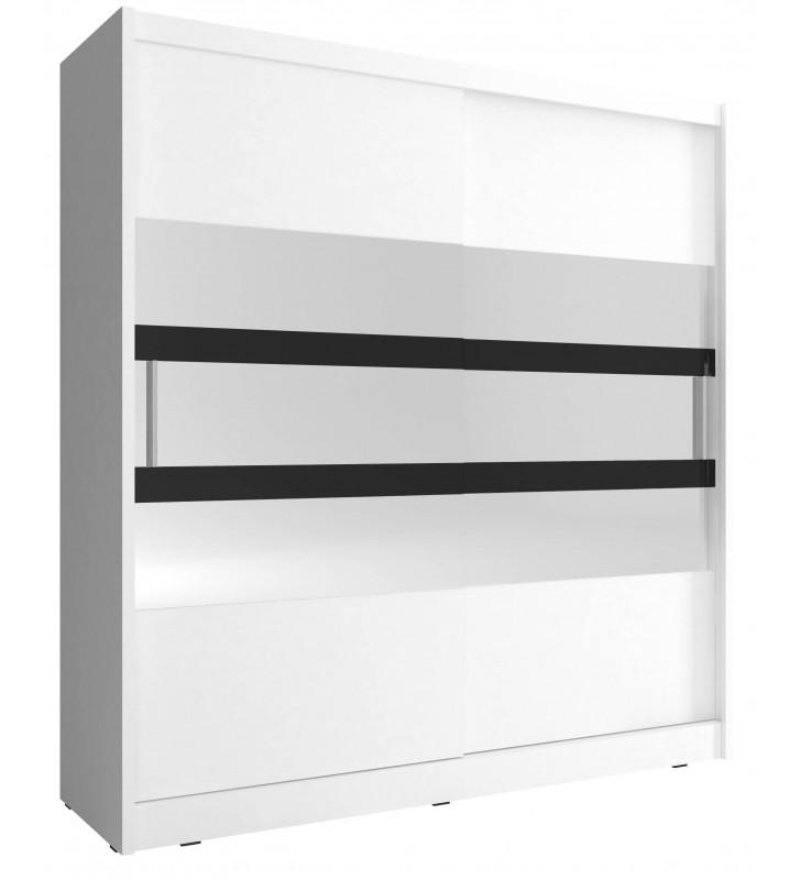 Biała szafa z lustrem MAJA V 200