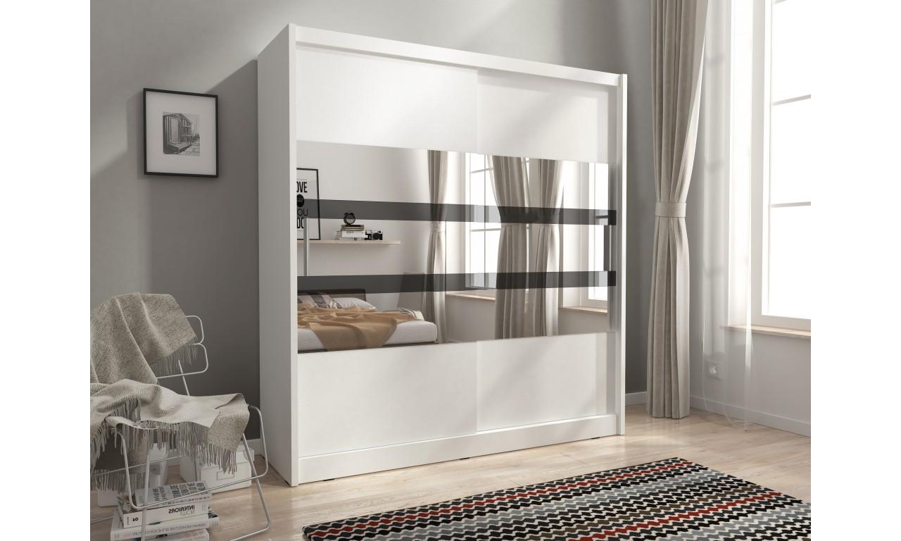 Biała szafa z lustrem MAJA V 180