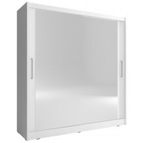 Biała szafa z dużymi lustrami MAJA VI 200