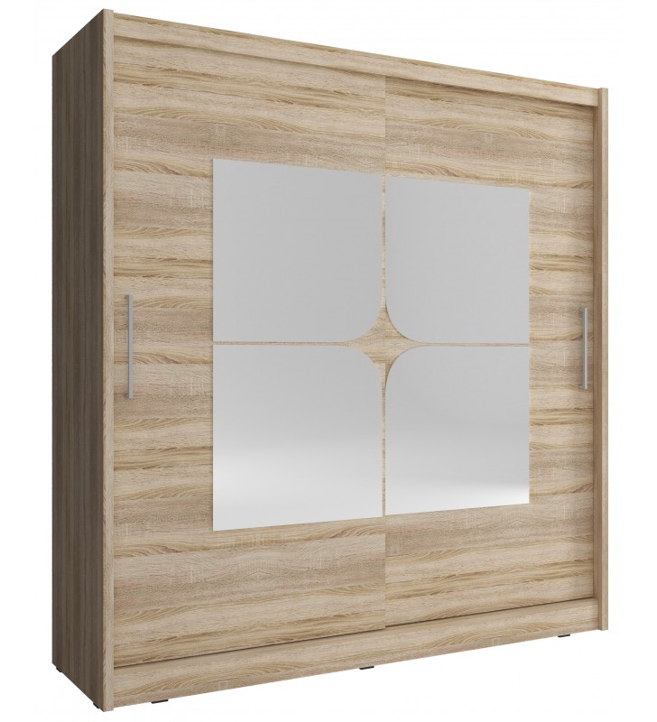 Jasnobrązowa szafa z lustrami MAJA VII 180