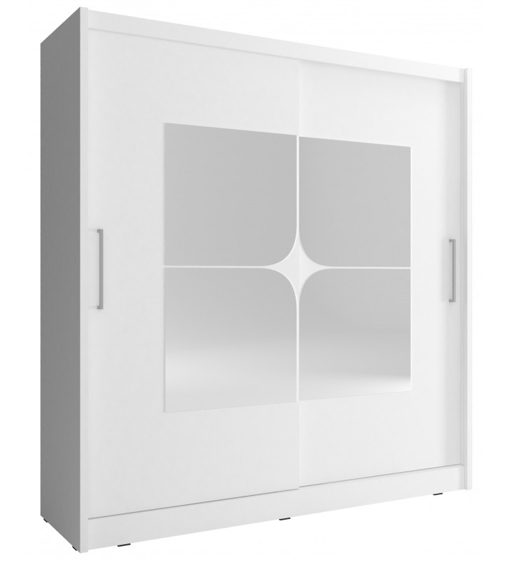 Biała szafa z lustrami MAJA VII 180