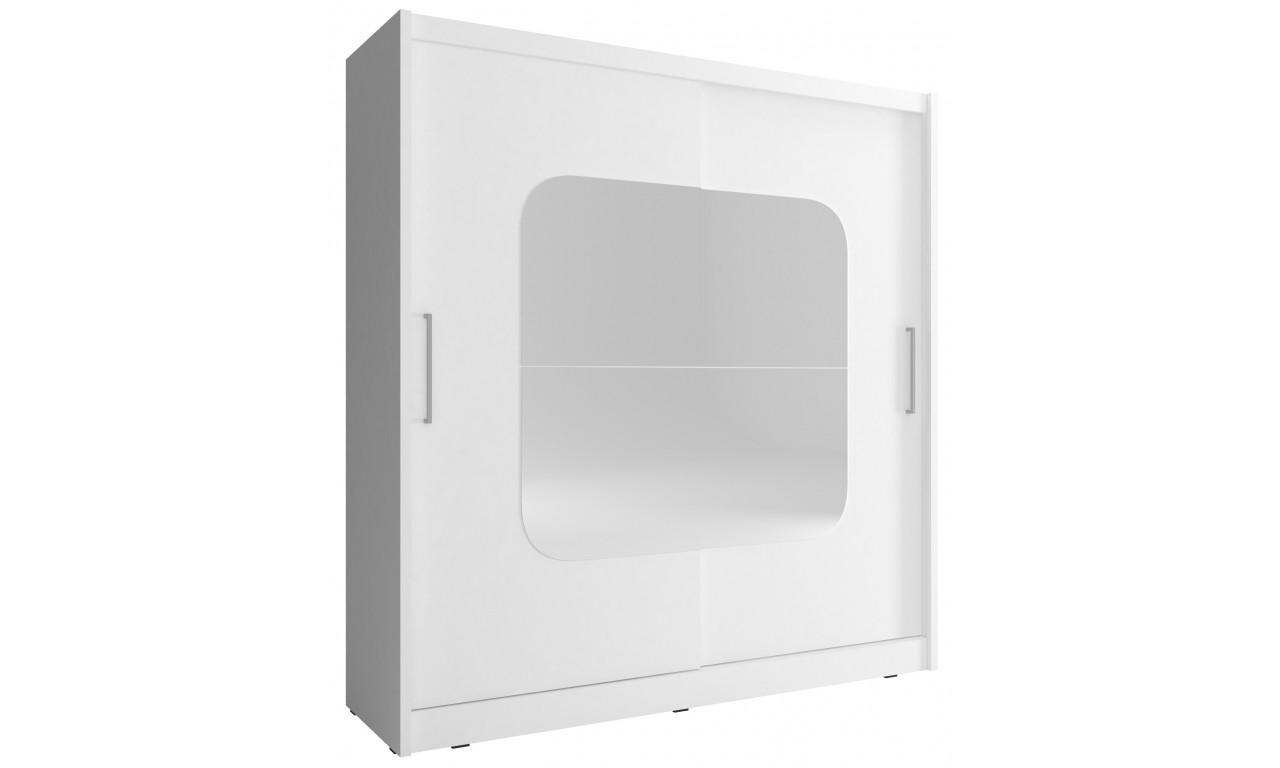 Biała szafa z lustrami MAJA VIII 200
