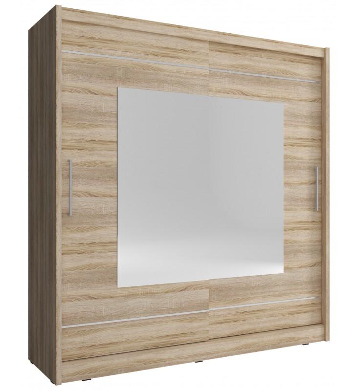 Jasnobrązowa szafa z lustrami MAJA IX 180