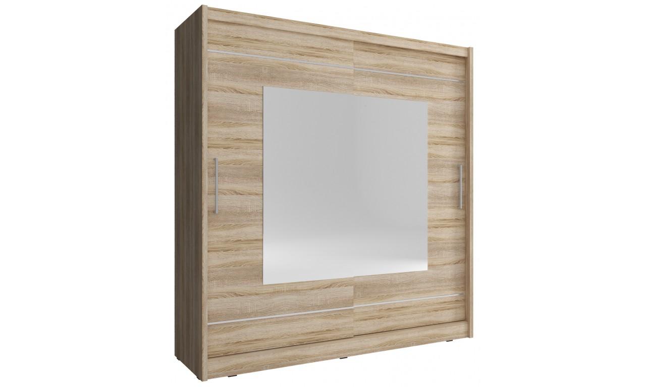 Jasnobrązowa szafa z lustrami MAJA IX 200