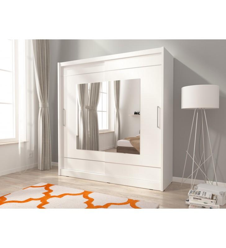 Biała szafa z lustrami MAJA IX 200