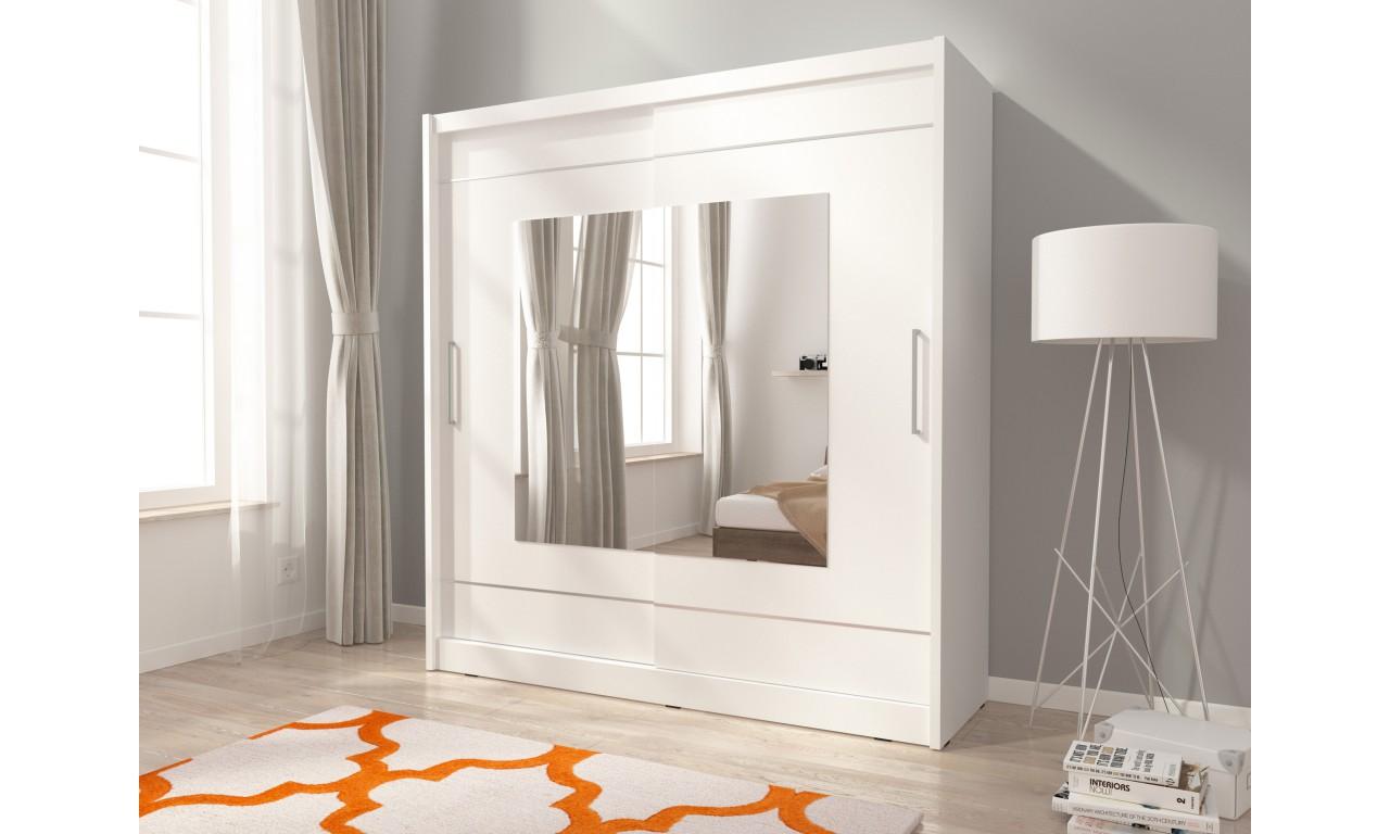 Biała szafa z lustrami MAJA IX 180