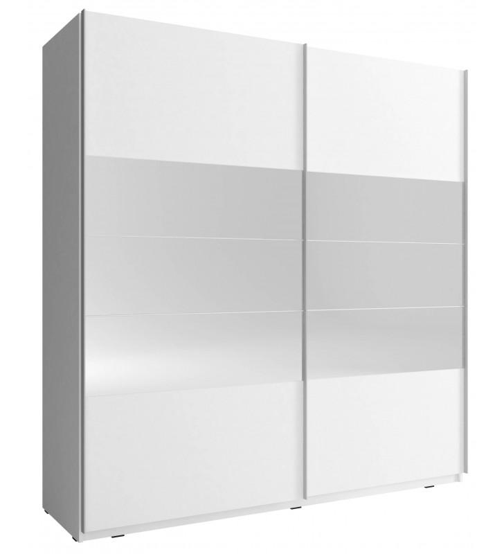 Biała szafa przesuwna z lustrami MIKA I 200
