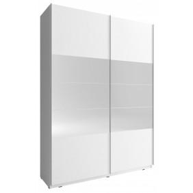 Biała szafa przesuwna z lustrami MIKA I 150
