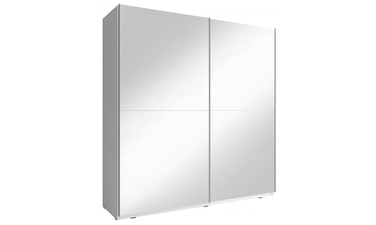 Biała szafa przesuwna z lustrami MIKA III 200