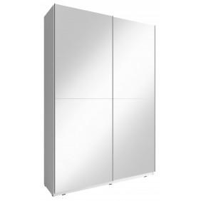 Biała szafa przesuwna z lustrami MIKA III 150