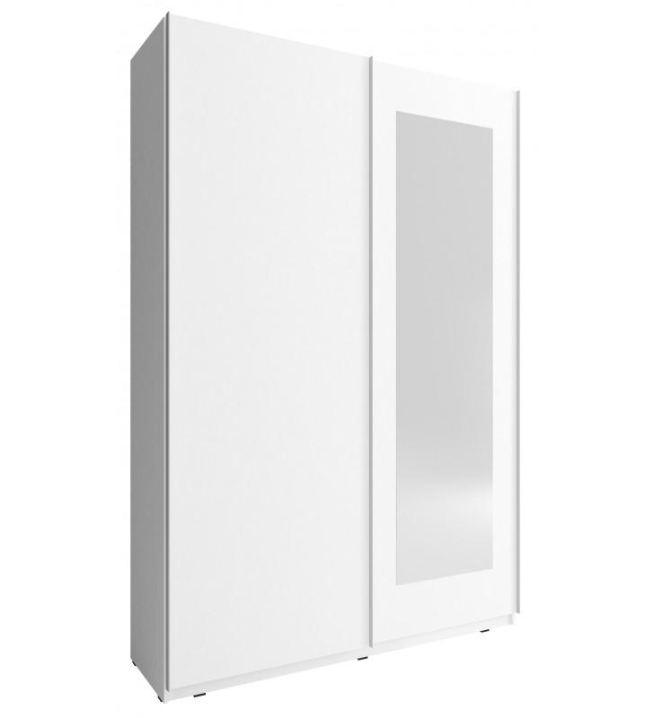 Biała szafa przesuwna z lustrem MIKA VIII 150