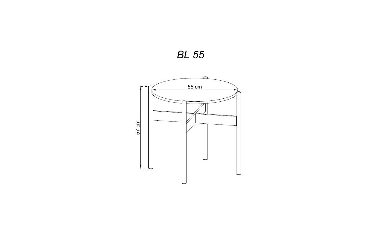 Brązowo-grafitowa ława BASIC BL55