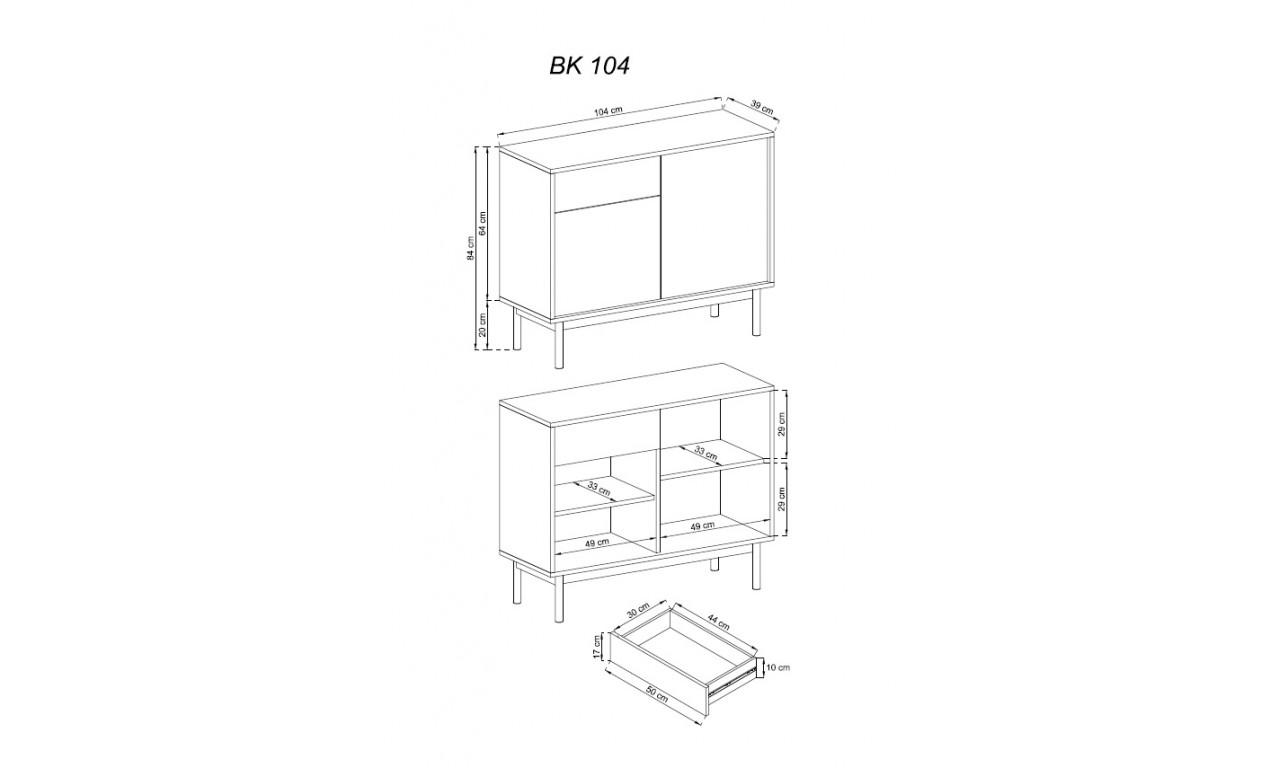 Zestaw brązowo-grafitowych mebli do salonu BASIC B