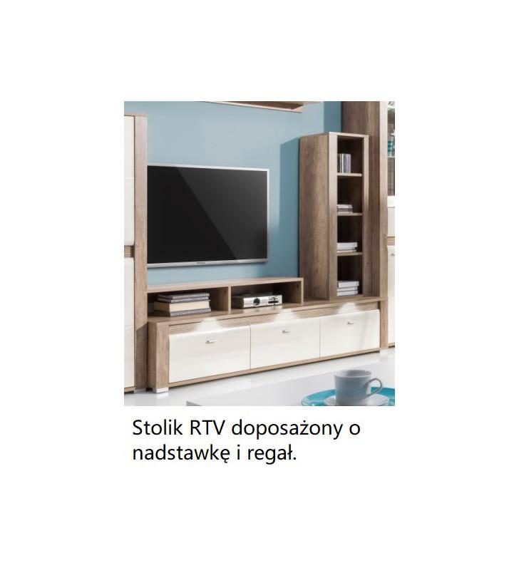 Stolik RTV w stylu nowoczesnym CAMPARI CRTV154 + półka gratis!